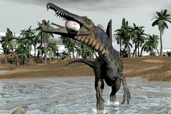 Dinossauro comendo