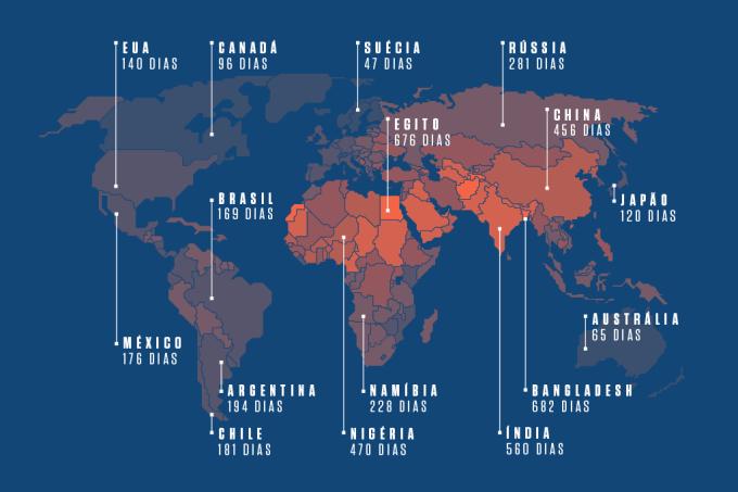 Mapa de dias de vida que você perde graças ao país em que vive – Home