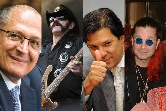 Políticos e Banda de rock