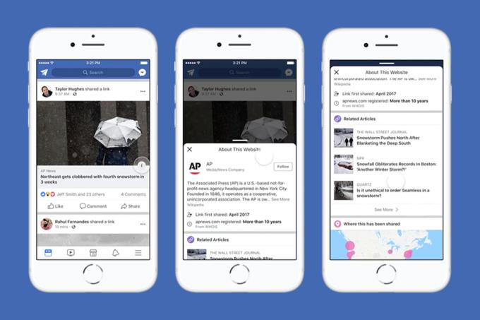 Botão do Facebook contra fake news