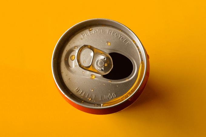 Latinha de refrigerante