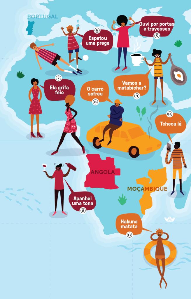 Mapa África língua Portuguesa
