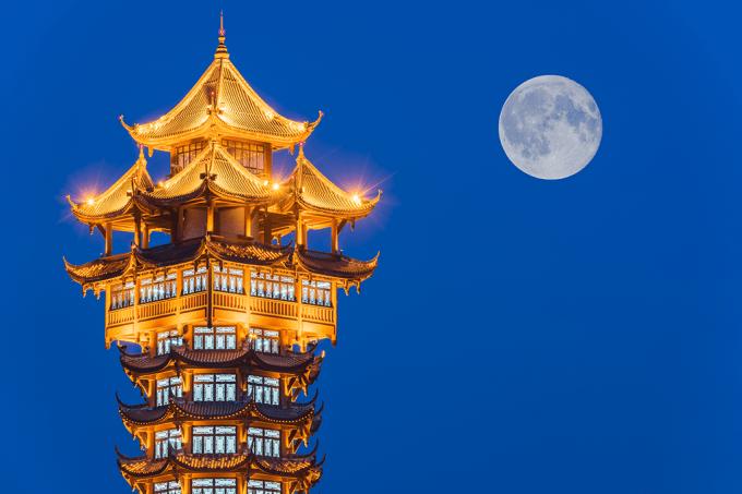 Lua em Chengdu