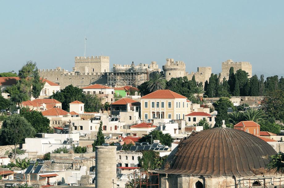 A cidade medieval de Rodes, na Grécia