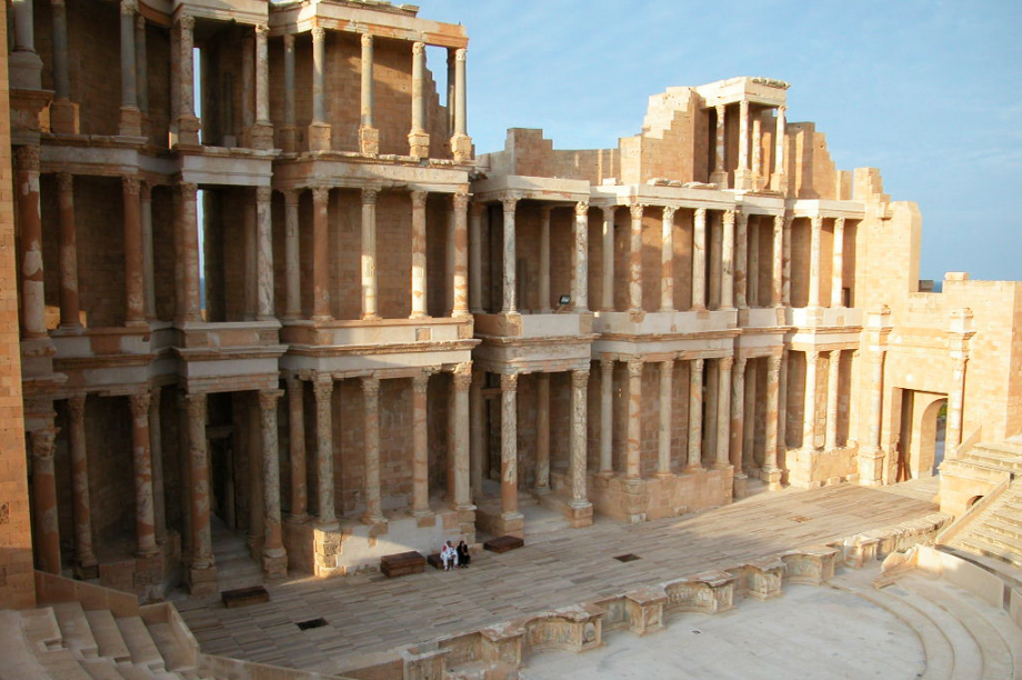 Sítio arqueológico de Sabratha, na Líbia