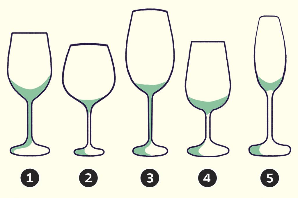 Qual é a diferença entre as taças de vinho?