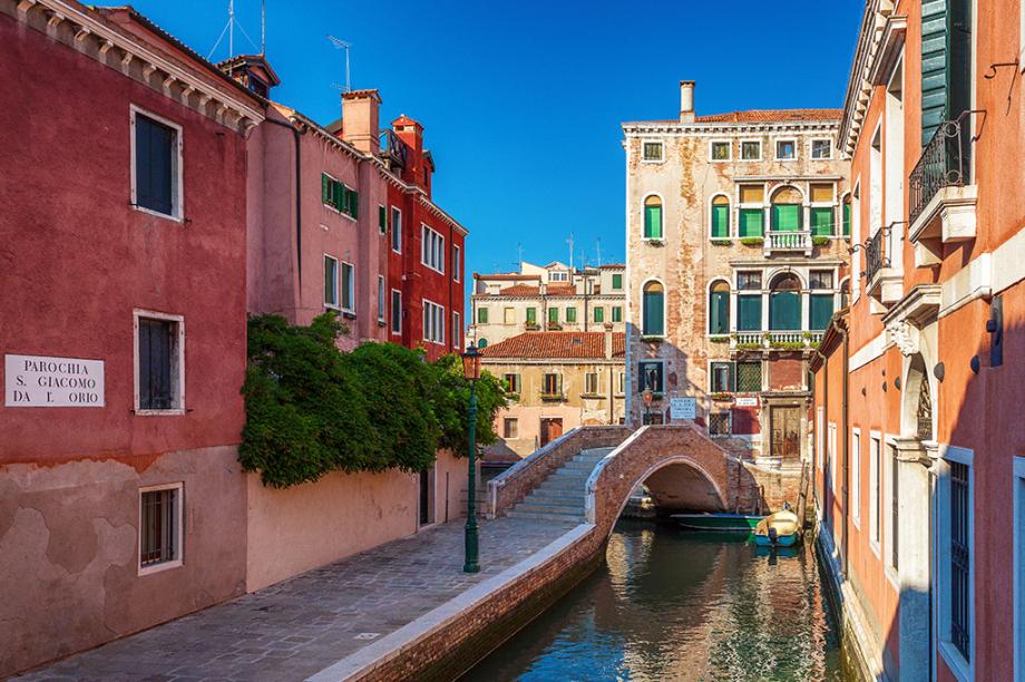 A cidade de Veneza, na Itália