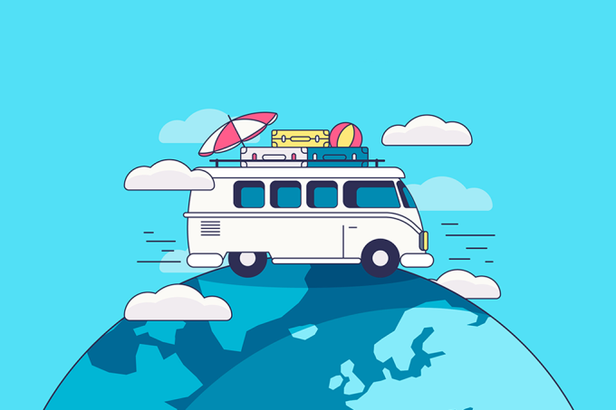 Kombi viajando