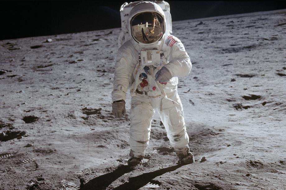 Aldrin, na fotografia mais famosa da Apollo 11.