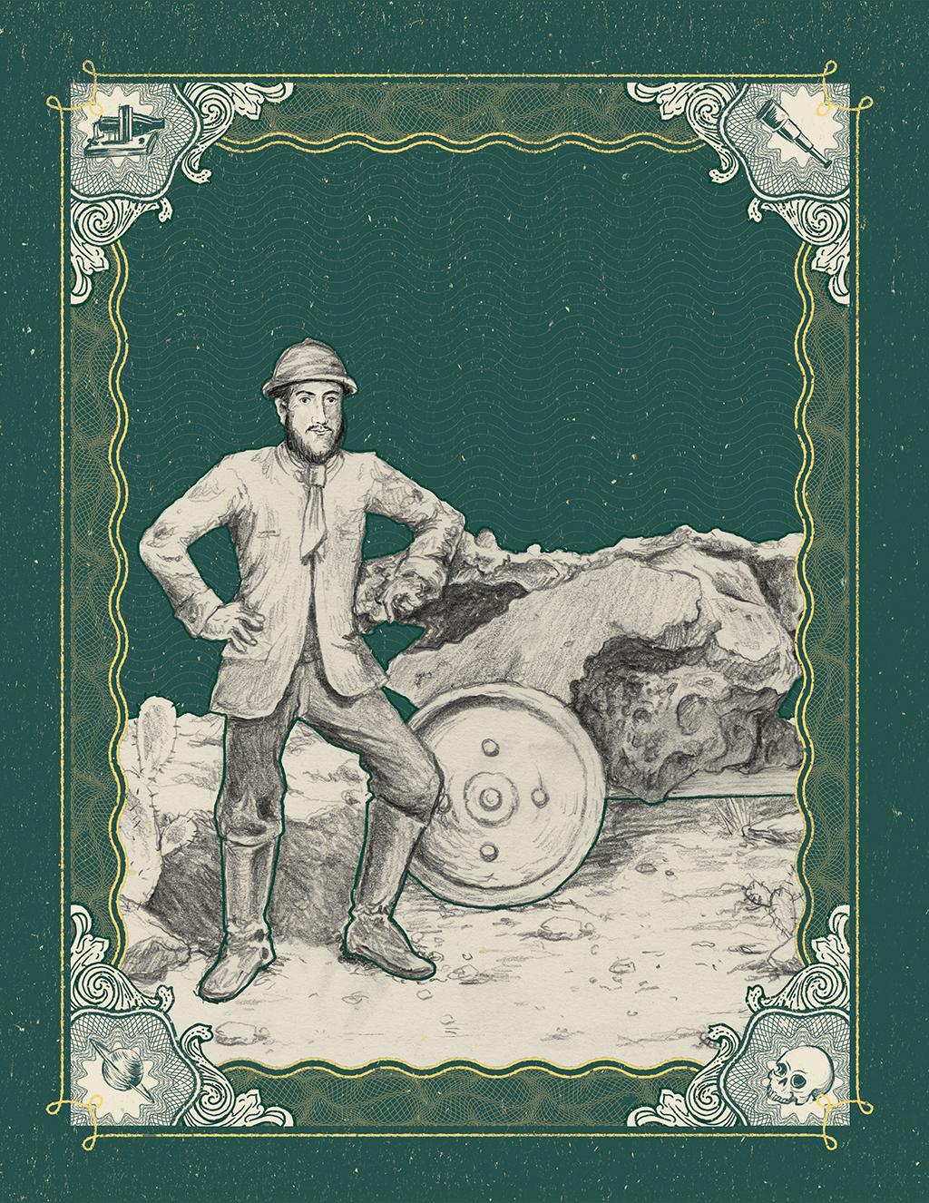 Licença poética: Pedro II evidentemente não pôde se ausentar do gabinete para acompanhar a remoção do meteorito. Mas teria adorado a expedição.