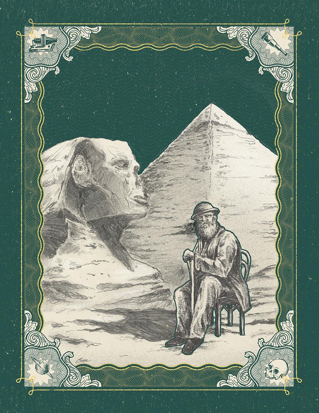 Indiana Jones: em 1876, Pedro subiu o Rio Nilo até o Sudão. E reclamou da conservação dos monumentos.