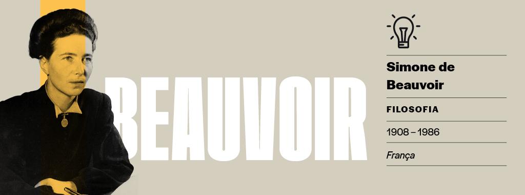<strong>Parceria no amor e nas ideias.</strong> Beauvoir foi namorada do filósofo Jean-Paul Sartre – eles nunca se casaram no papel e mantinham um relacionamento aberto. Enquanto Sartre formulava as bases teóricas do existencialismo, Beauvoir deu uma aplicação prática aos conceitos ao se deter no papel social da mulher.