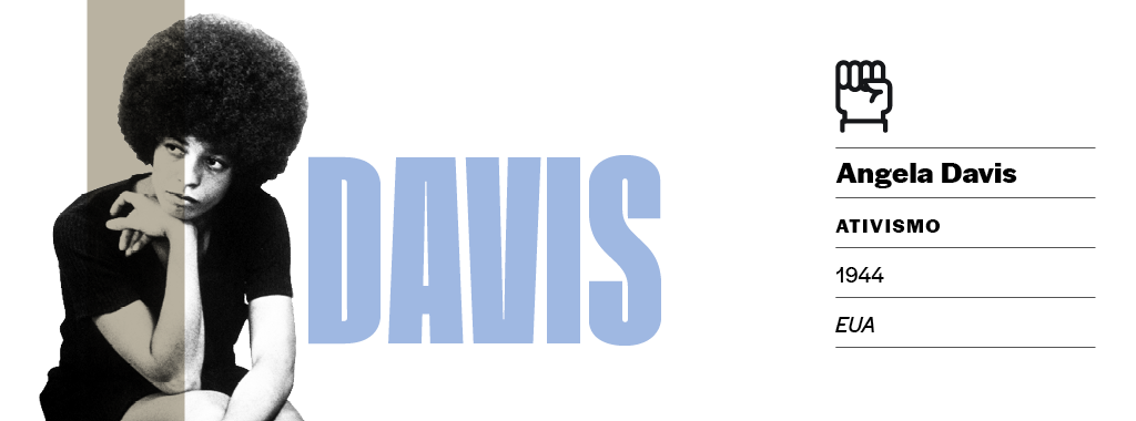"""<strong>Luta que inspirou a arte.</strong> A prisão de Angela Davis gerou comoção internacional. Comitês em 67 países arrecadaram fundos pela libertação da ativista, também apoiada por grandes artistas. John Lennon e Yoko lançaram """"Angela"""", e os Rolling Stones, a canção """"Sweet Black Angel"""", ambas protestos contra a detenção."""