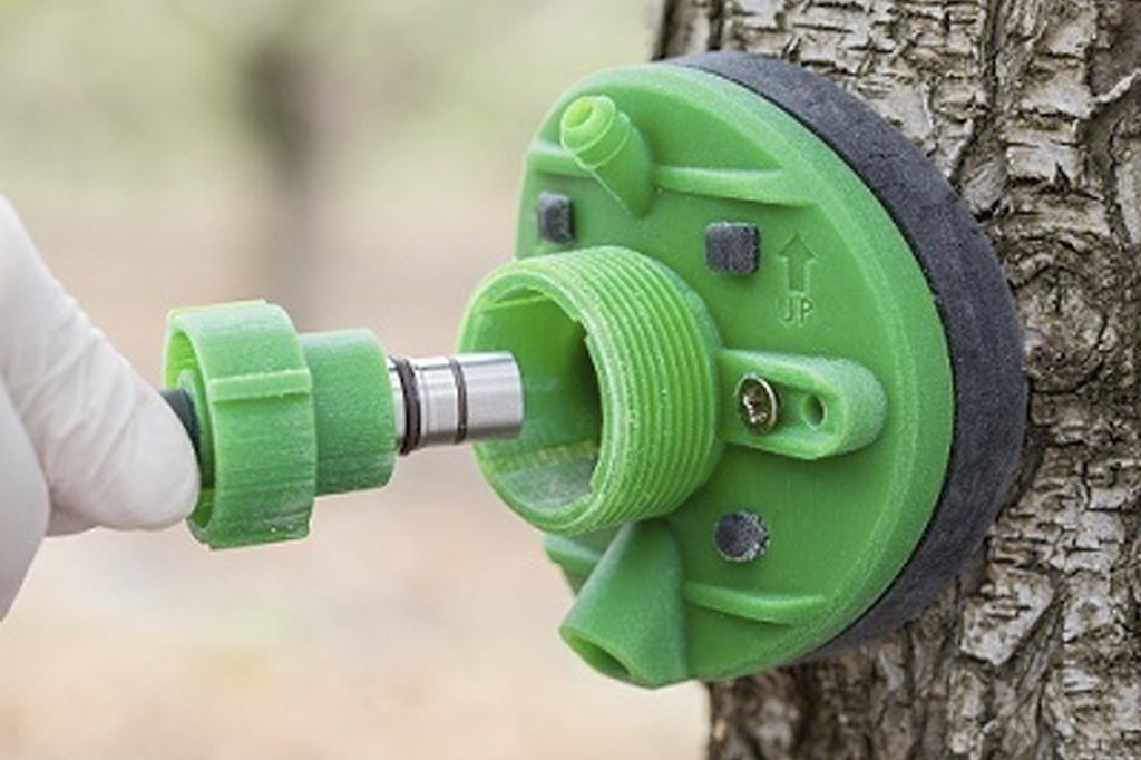 imagem do sensor da Saturas, na cor verde