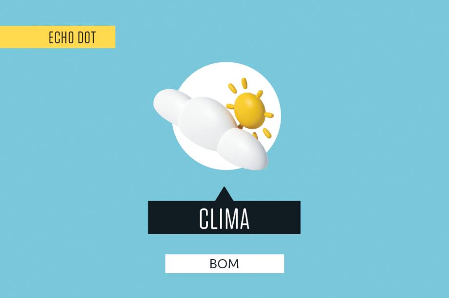 """Informa a temperatura mínima e máxima e diz se há previsão de chuva (e em qual parte do dia). Também dá para perguntar sobre o clima do dia seguinte – ou<span class=""""Apple-converted-space""""> </span>em outro lugar."""