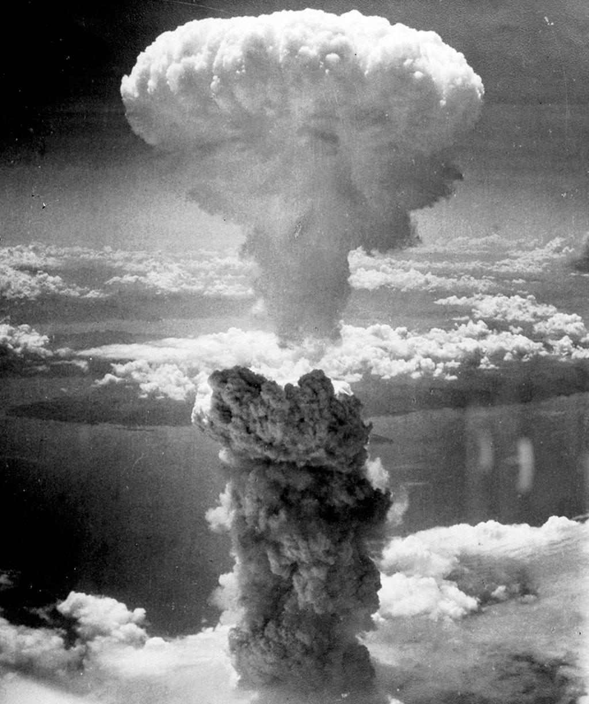 <strong>O cogumelo de Nagasaki, ícone da hecatombe nuclear.</strong>