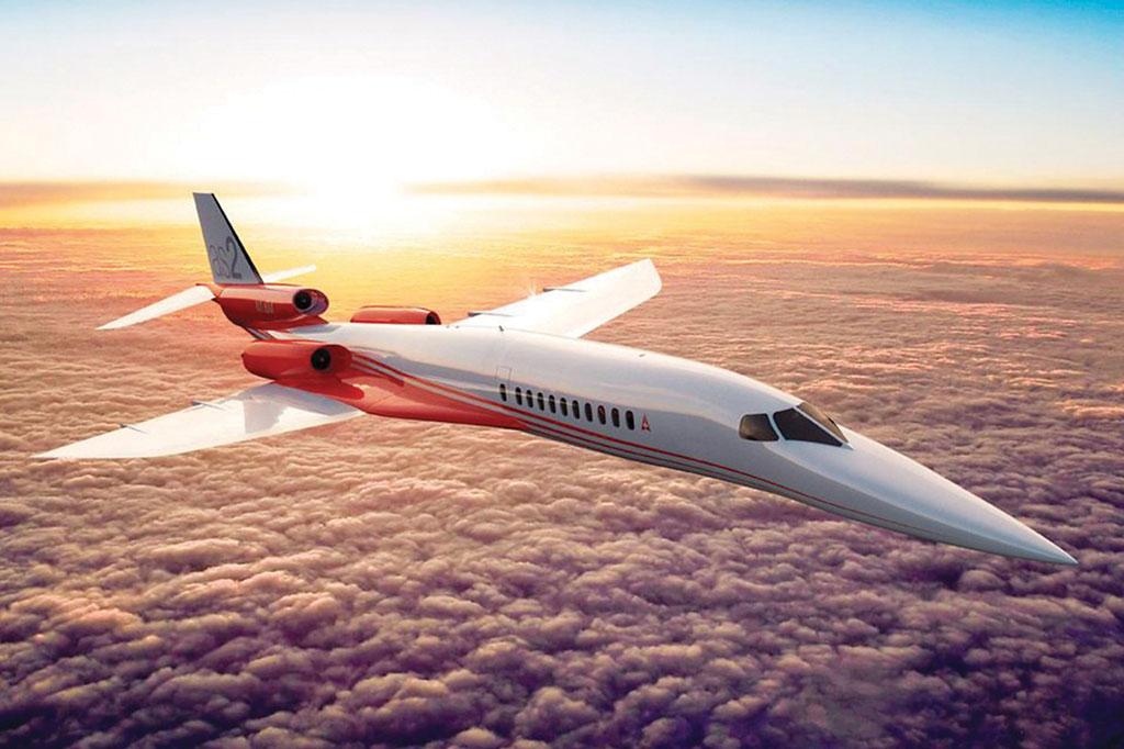 <strong>Focada mais num perfil de transporte executivo que de passageiros, a americana Aerion Corporation, em parceria com a Airbus, desenvolve o Aerion AS2, um avião supersônico com capacidade para 8 a 12 passageiros.</strong>