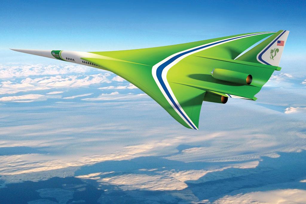 <strong>O N+2, da Lockheed Martin, promete cortar pela metade o tempo de voo entre Nova York e Los Angeles. Com capacidade para 80 passageiros, ele foi desenhado para produzir um boom sônico muito menos ruidoso que o tradicional.</strong>