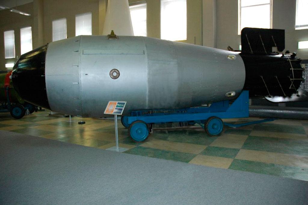 <strong>Réplica da Bomba Tsar exposta no Museu de Sarov.</strong>