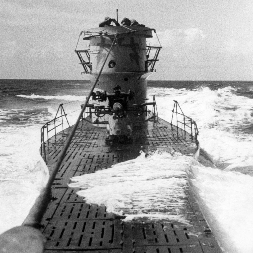 <strong>Um U-Boat sobe à tona: o submarino alemão dominou os mares até 1943.</strong>