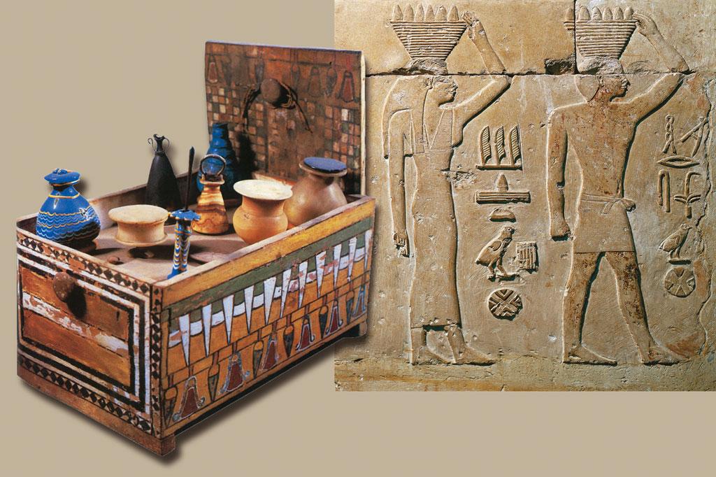 <strong>Caixa de cosméticos do século 10 a.C.</strong>