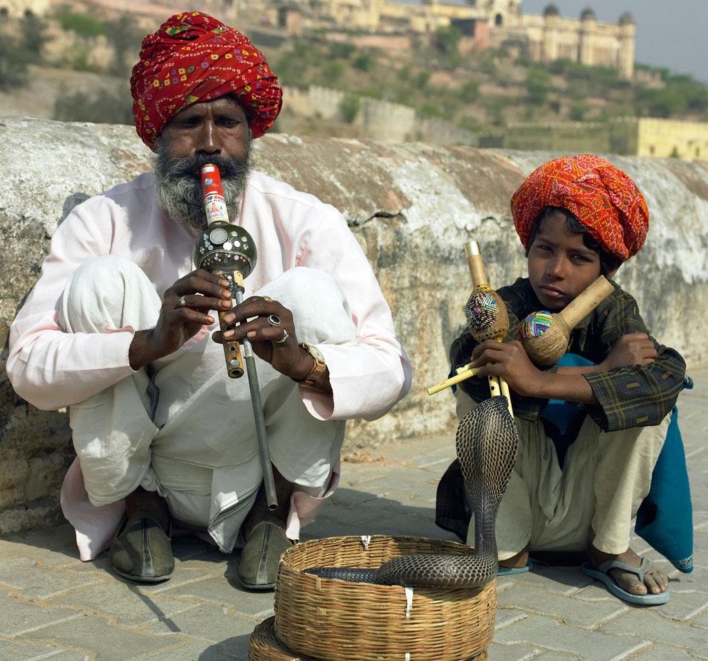 <strong>No Egito Antigo, os encantadores de cobras também eram considerados mágicos.</strong>