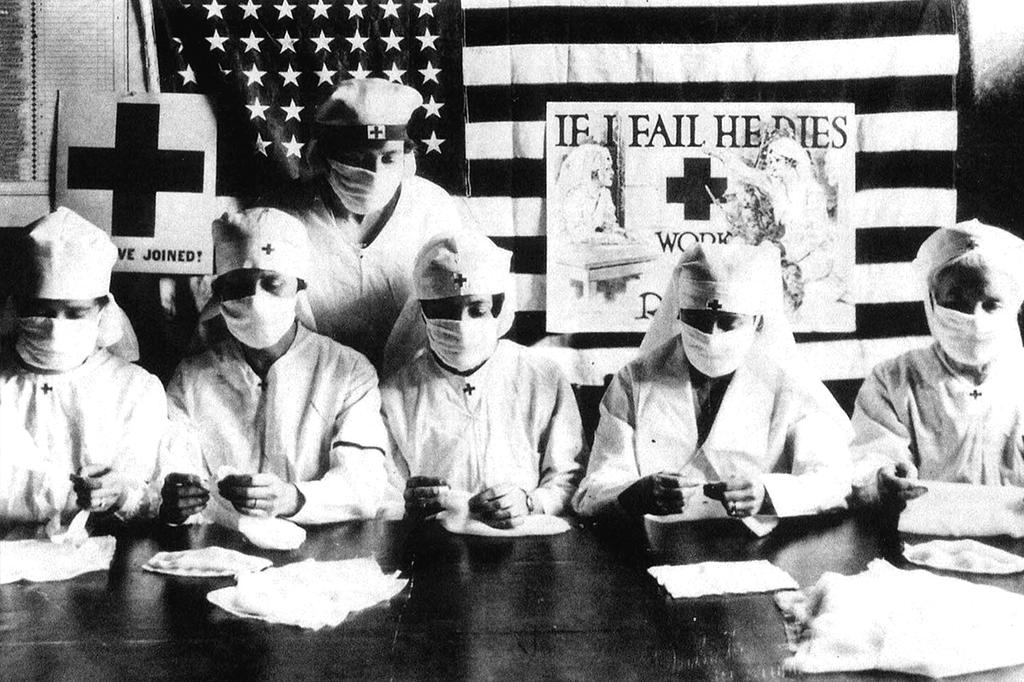 Voluntárias da Cruz Vermelha –EUA, 1918.