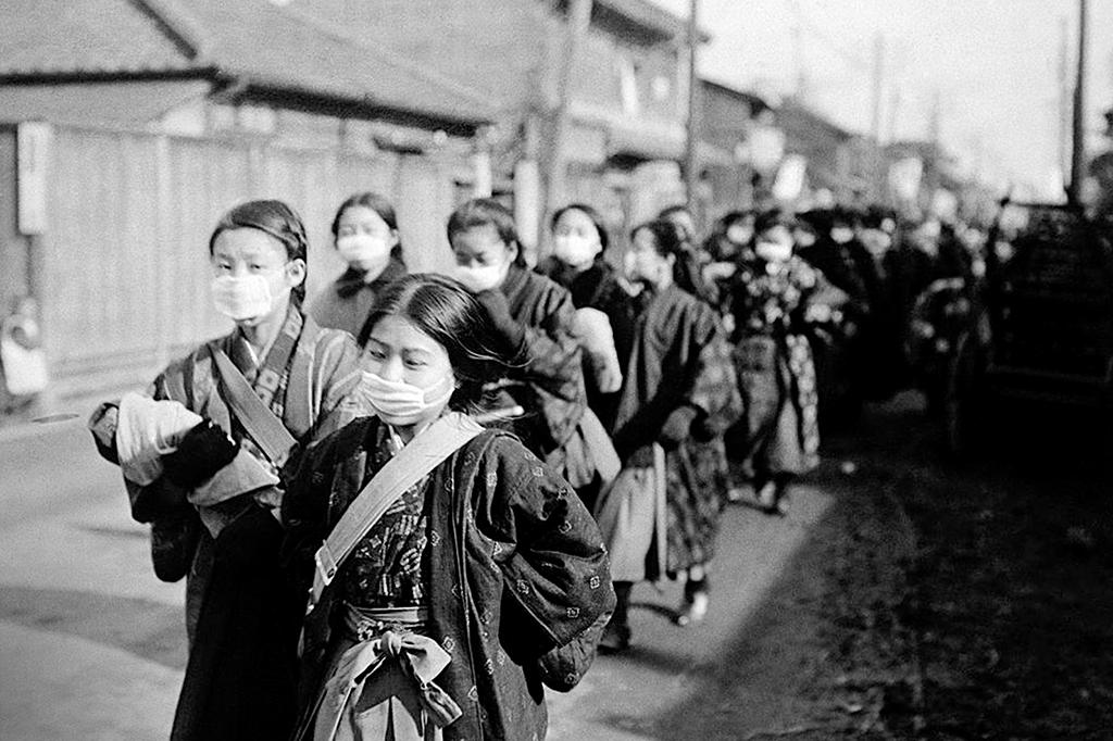O Japão teve 480 mil mortos pela gripe.