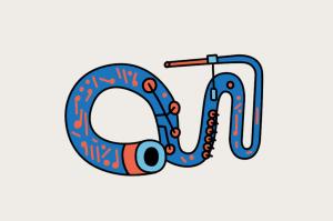<strong>Renascimento, século 16.</strong><br />Instrumentos graves precisam ser grandes. Como a serpente, este antepassado da tuba com 1,8 m, usado até por Mozart.