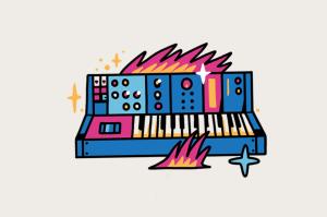 <strong>EUA, 1964.</strong><br />O sintetizador Moog, com graves robóticos e pulsantes, inaugura uma era. Os teclados se tornarão populares nos anos 1980, dando origem à música eletrônica.