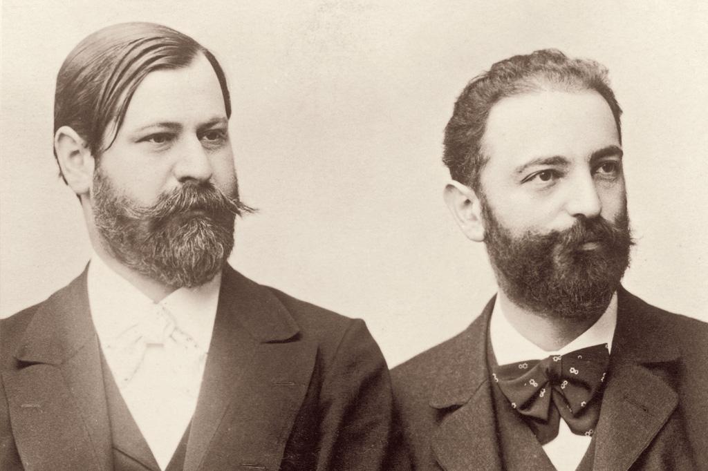 <strong>Wilhelm Fliess (à direita) foi grande amigo e interlocutor de Freud. Era a ele que o pai da psicanálise expunha dúvidas a respeito das próprias teorias – e para quem confessou sentimentos edipianos.</strong>