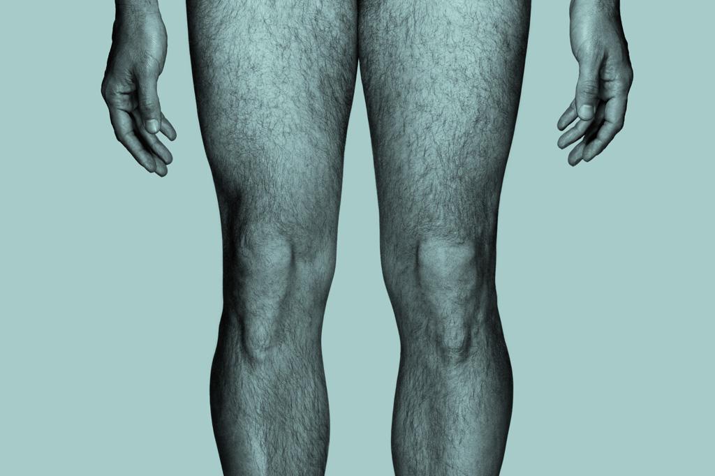 perna masculina.