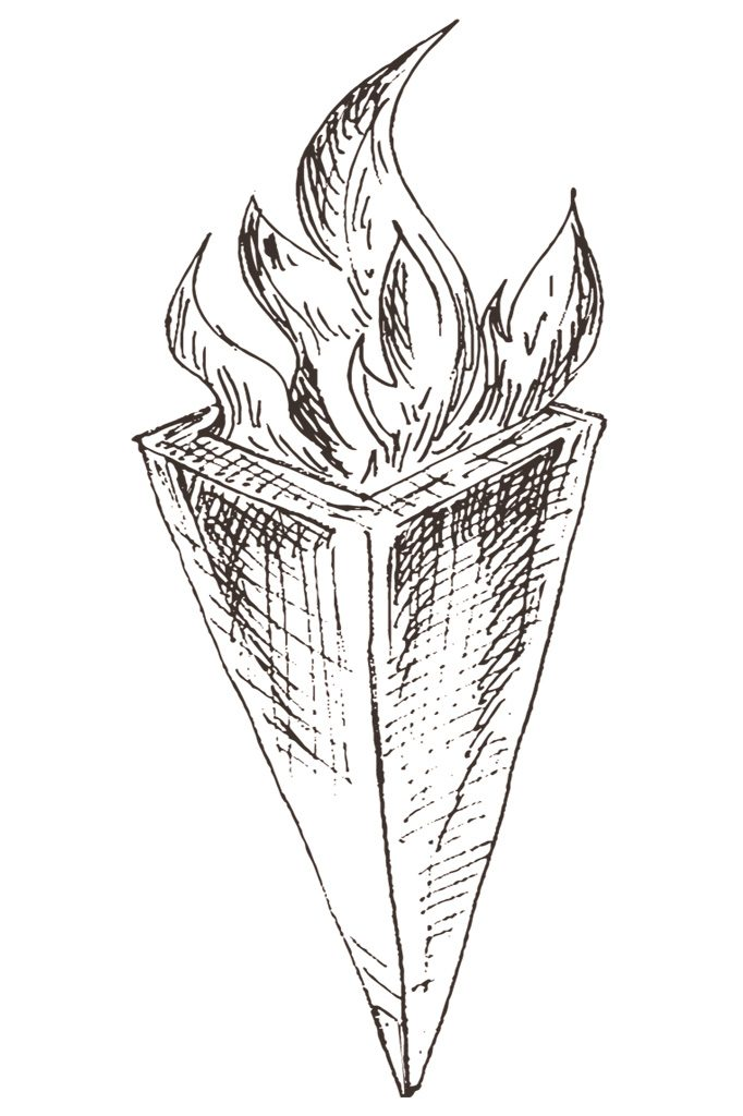 Ilustração de uma tocha de fogo