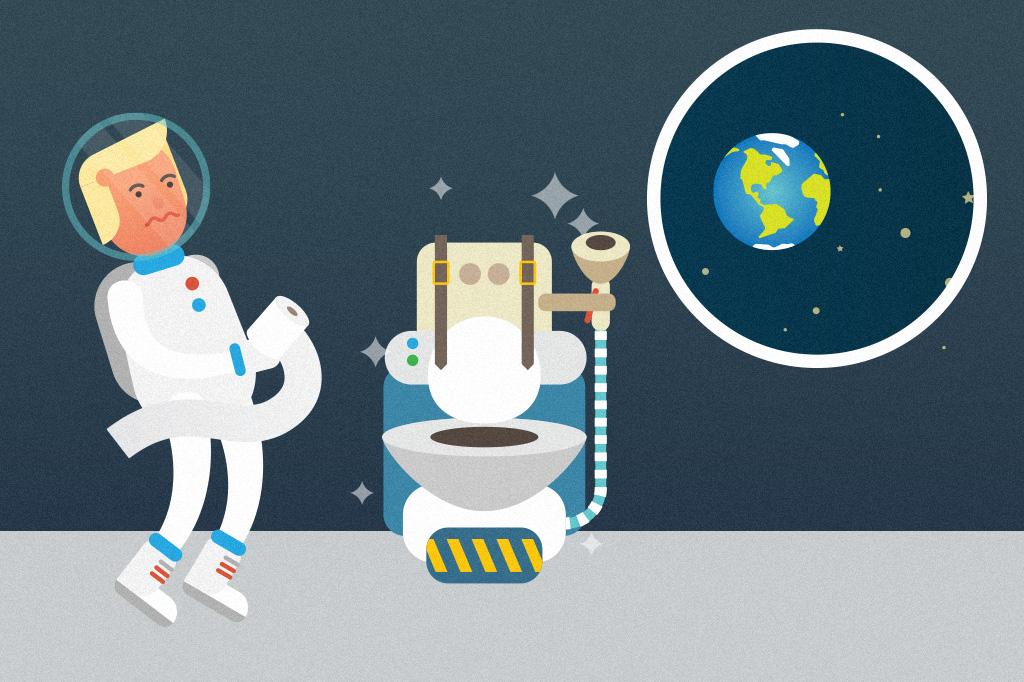 Xixi espacial tem menos sódio, diz estudo