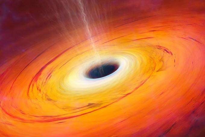 Um buraco negro engoliu um objeto misterioso a 800 milhões de anos-luz da Terra