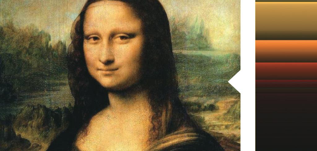 <strong>A grande invenção de Da Vinci é usar leves sombras para desenhar o rosto da mulher. Por isso, Mona fica com este ar misterioso.</strong>