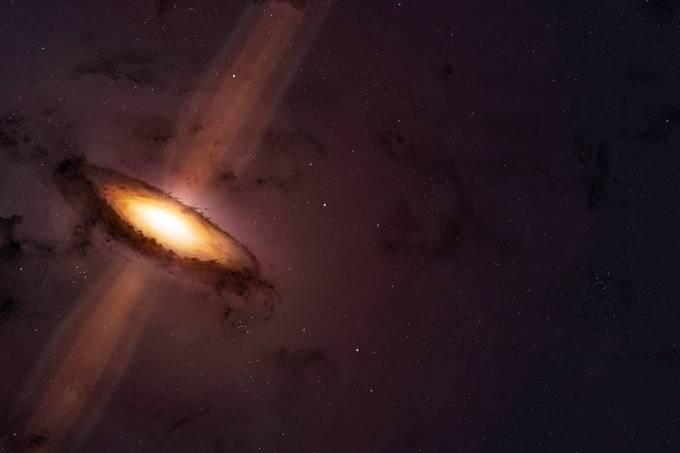 Buraco negro que mais cresce no Universo consome o equivalente a um sol por dia