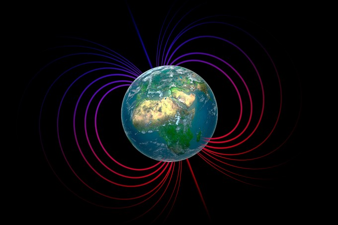 Polos magnéticos da Terra podem estar se invertendo 10 vezes mais rápido do que se acreditava