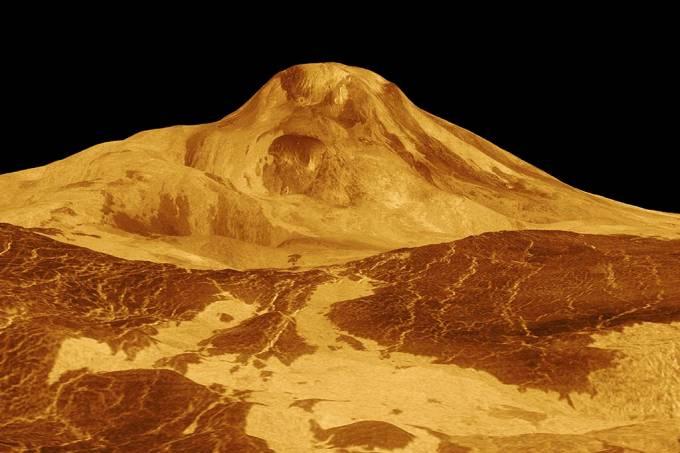 Vulcões ativos são encontrados em Vênus