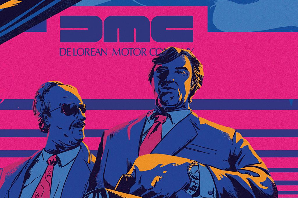 Colin Chapman (à esquerda), o gênio da Fórmula 1, e John DeLorean. Os dois se uniram para produzir o DMC-12, mas acabaram tendo outra ideia: desviar dinheiro de investidores.