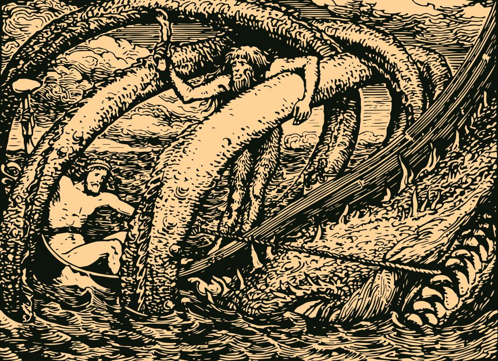 Hymir e a Serpente de Midgard.
