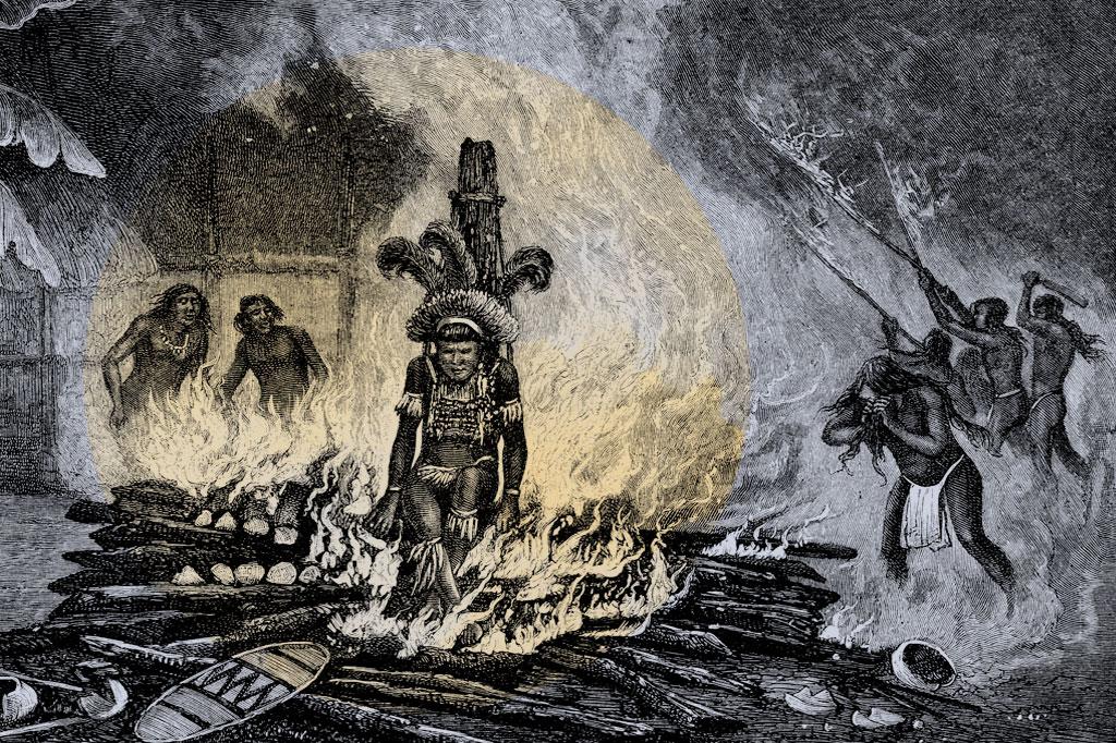 <strong>Os rituais de canibalismo incluíam uma encenação: o prisioneiro era libertado, mas apenas para ser capturado logo em seguida.</strong>