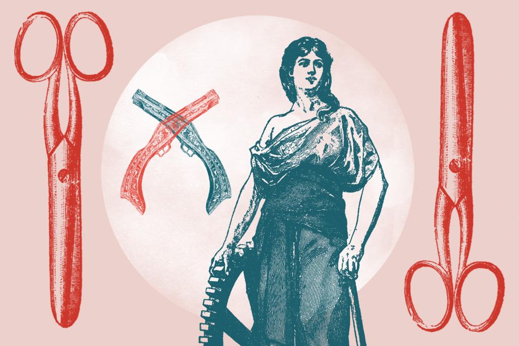 Ilustração de mulher operária.