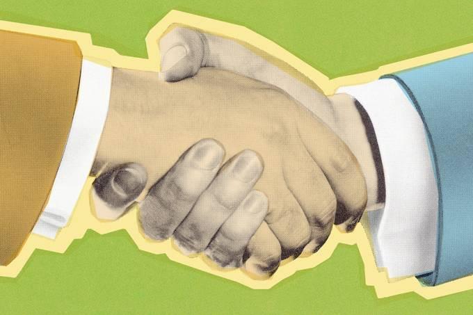 ORCL | Qual é a origem do aperto de mão?