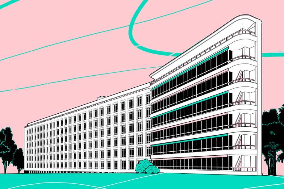 O prédio do sanatório é um ícone do modernismo. Os ambientes brancos facilitavam a higienização. As pias possuíam um formato pensado para não espirrar água . O limite de dois pacientes por quarto contrastava com a aglomeração das enfermarias em hospitais comuns. As portas tinham maçanetas compridas, em vez de redondas, para facilitar a abertura – algo pouco comum na época.