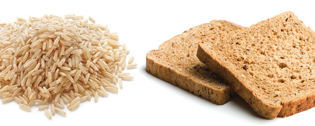 <strong>Pão multigrãos, arroz integral: as fibras regularizam o funcionamento do intestino, reduzindo o tempo de contato de substâncias cancerígenas com a parede intestinal.</strong>