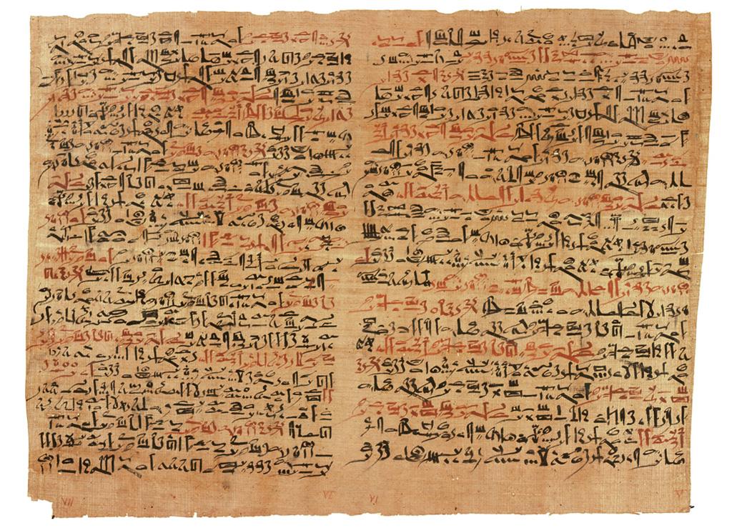 <strong>No papiro egípcio de 1700 a.C. encontra-se a primeira menção sobre o câncer na história da humanidade. O texto de 2.600 a.C. é atribuído ao polímata egípcio Imhotep.</strong>