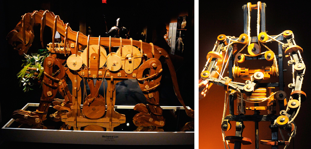 <strong>Da Vinci também projetou um robô articulado que levava na cintura um tambor. Sua proposta com essa invenção era criar um autônomo que seguisse os soldados durante as paradas militares.</strong>