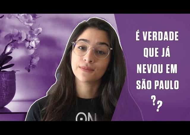É verdade que já nevou em São Paulo?