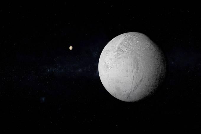 Nasa encontra evidências de gelo fresco em Encélado, lua de Saturno